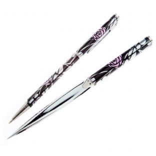 Mackintosh Rose/Leaves Slim Pen & Paperknife